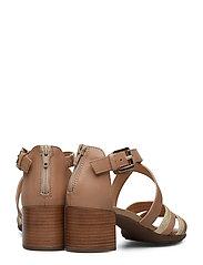 GEOX - D MARYKARMEN MID SAN - sandales à talons - brown/gold - 4