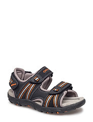 JR SANDAL STRADA - BLK/ORANGE