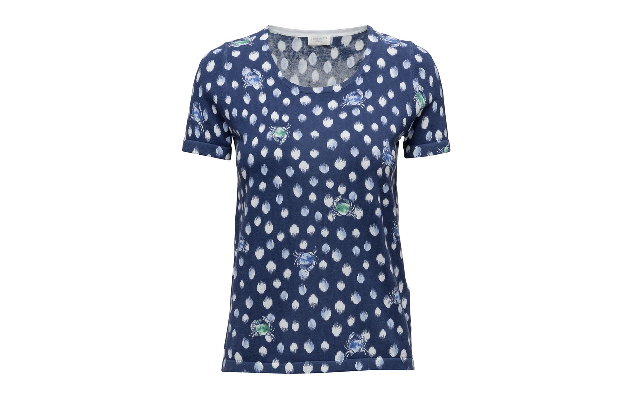 Print Coton Short Blue Gerry green Pullover 100 sleev Weber Edition HwxOqCp