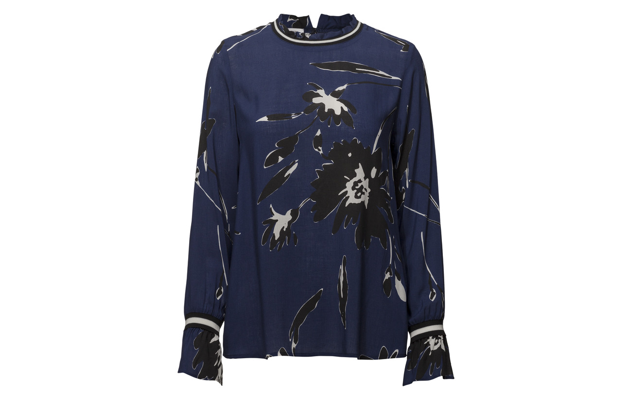 Blue Gerry Edition Tunic Viscose white Longblouse Weber 100 black ZrZSI
