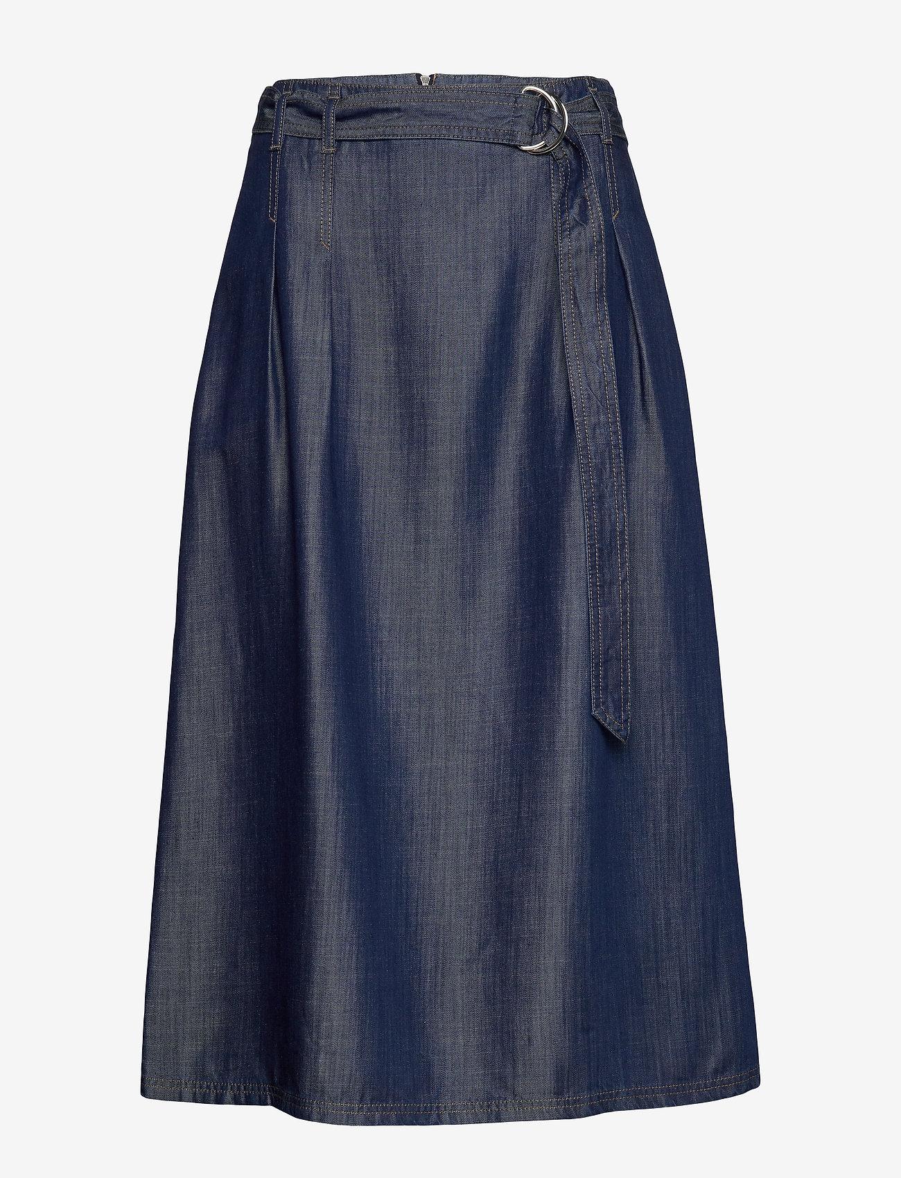 Gerry Weber Edition - SKIRT SHORT WOVEN FA - jeansowe spódnice - vintage indigo - 0
