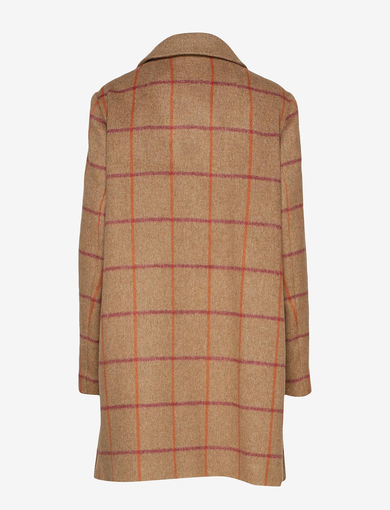 Coat Wool (Check Camel) - Gerry Weber Edition zQ7xln