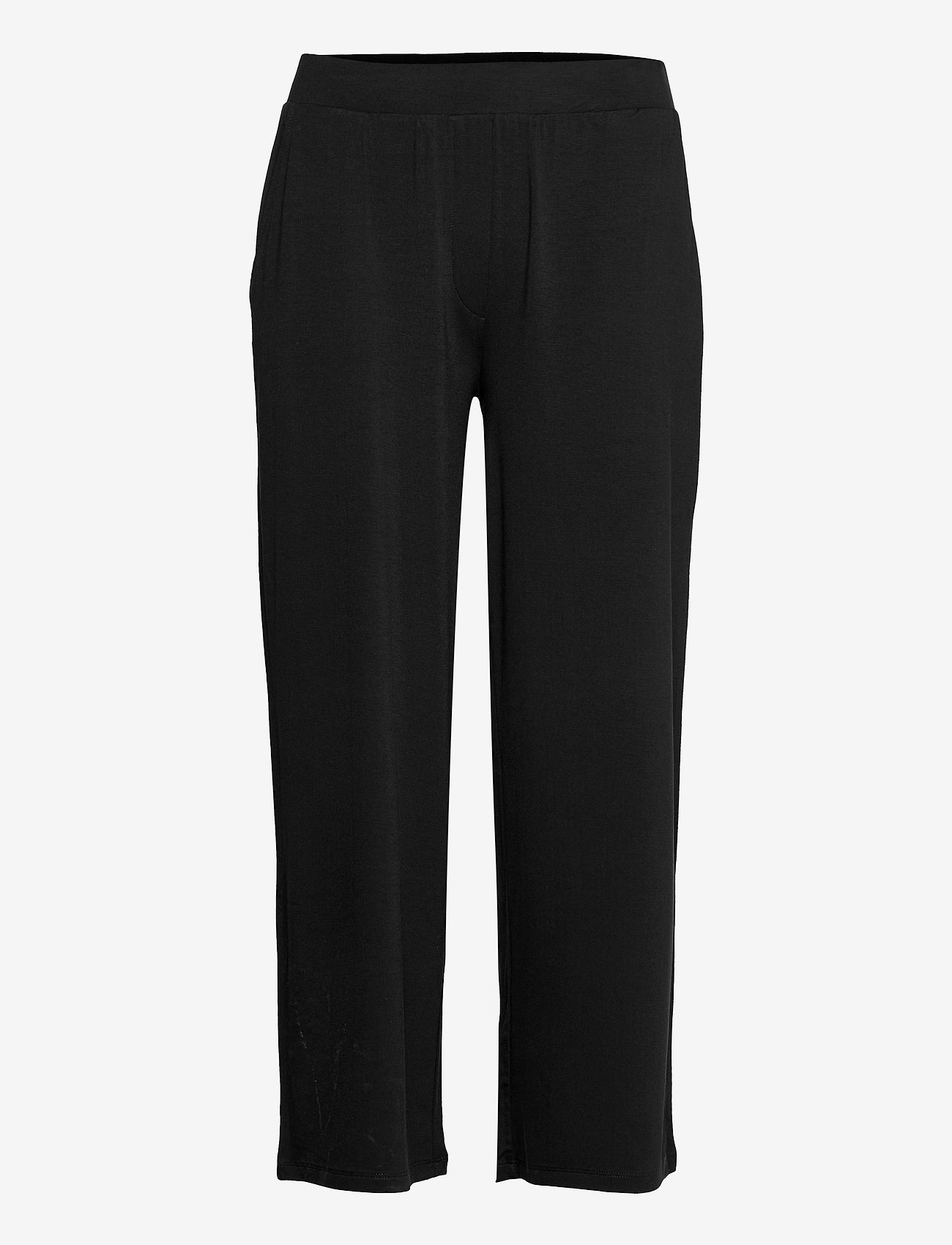 Gerry Weber Edition - TROUSERS KNITTED FAB - black - 0