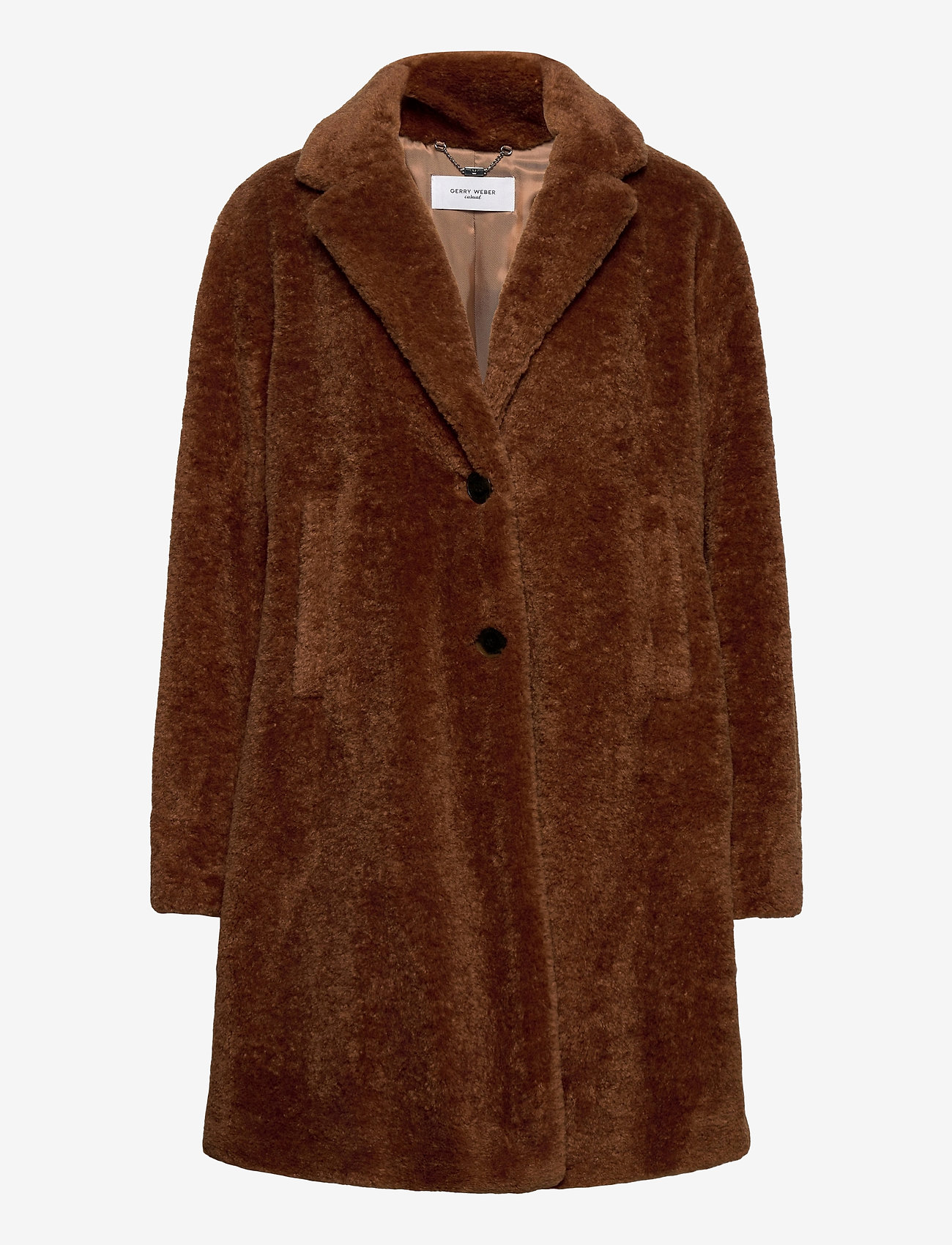 Gerry Weber Edition - COAT NOT WOOL - faux fur - haselnut - 0