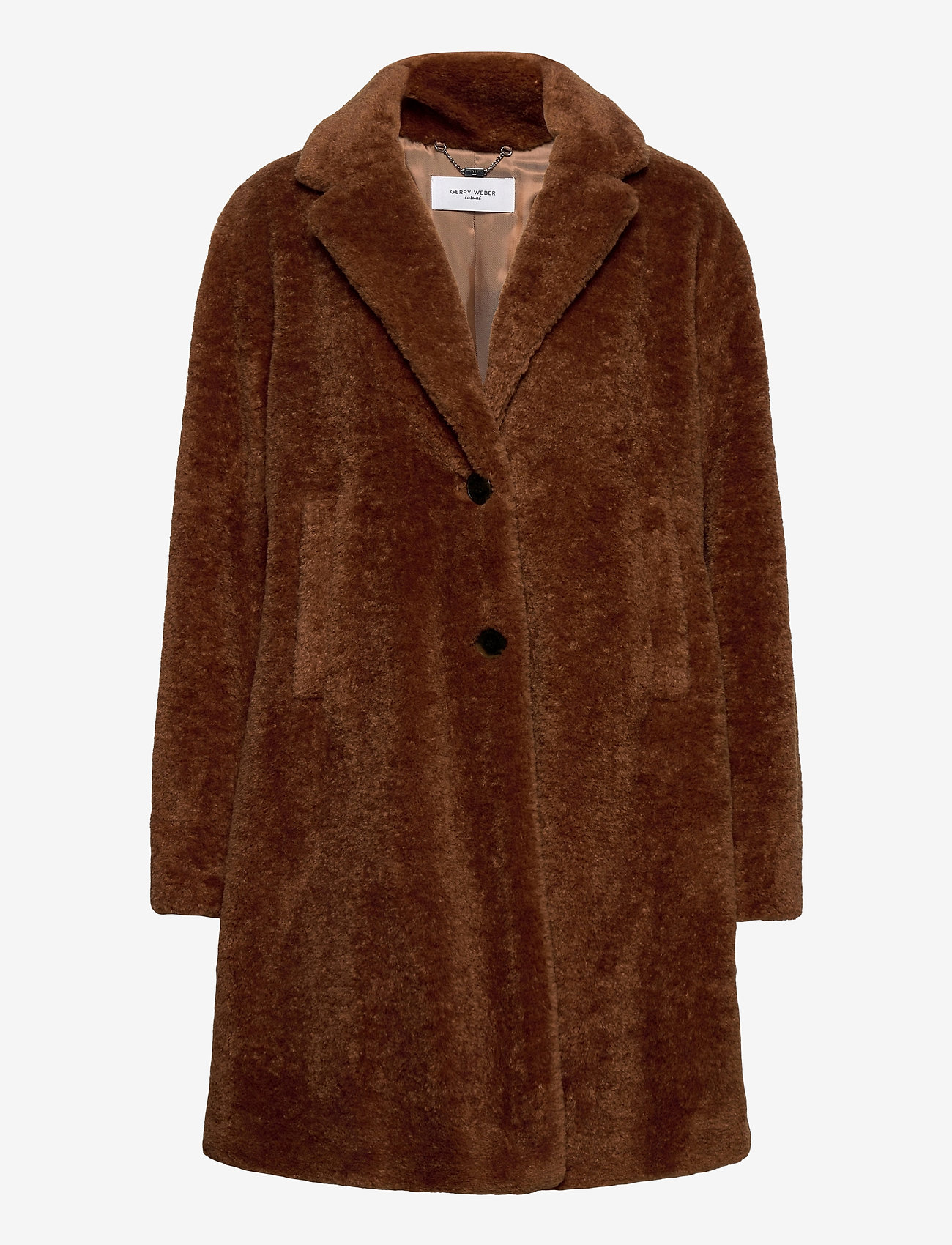 Gerry Weber Edition - COAT NOT WOOL - faux fur - haselnut - 1