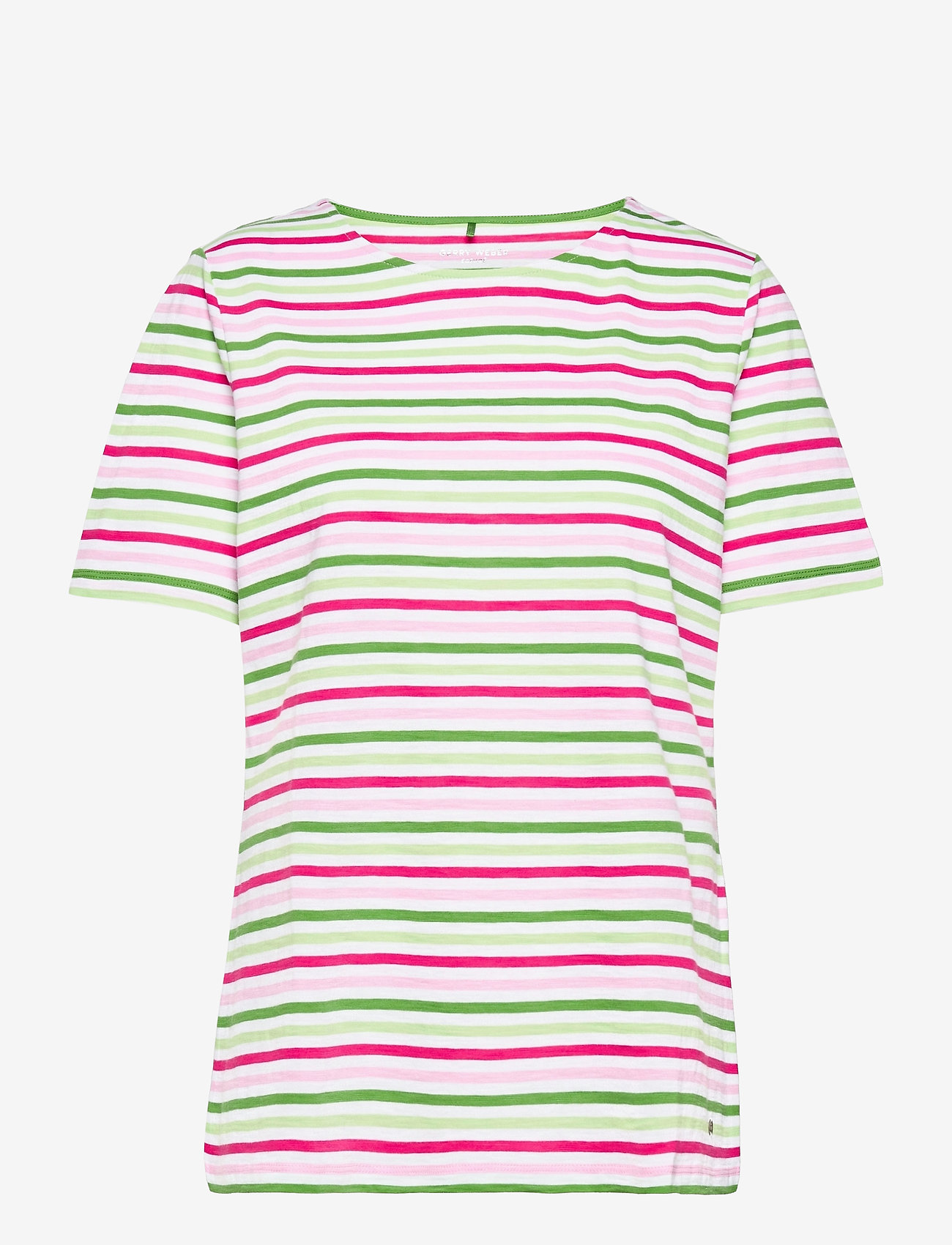 Gerry Weber Edition - T-SHIRT SHORT-SLEEVE - t-shirts - lilac/pink/green hoops - 0