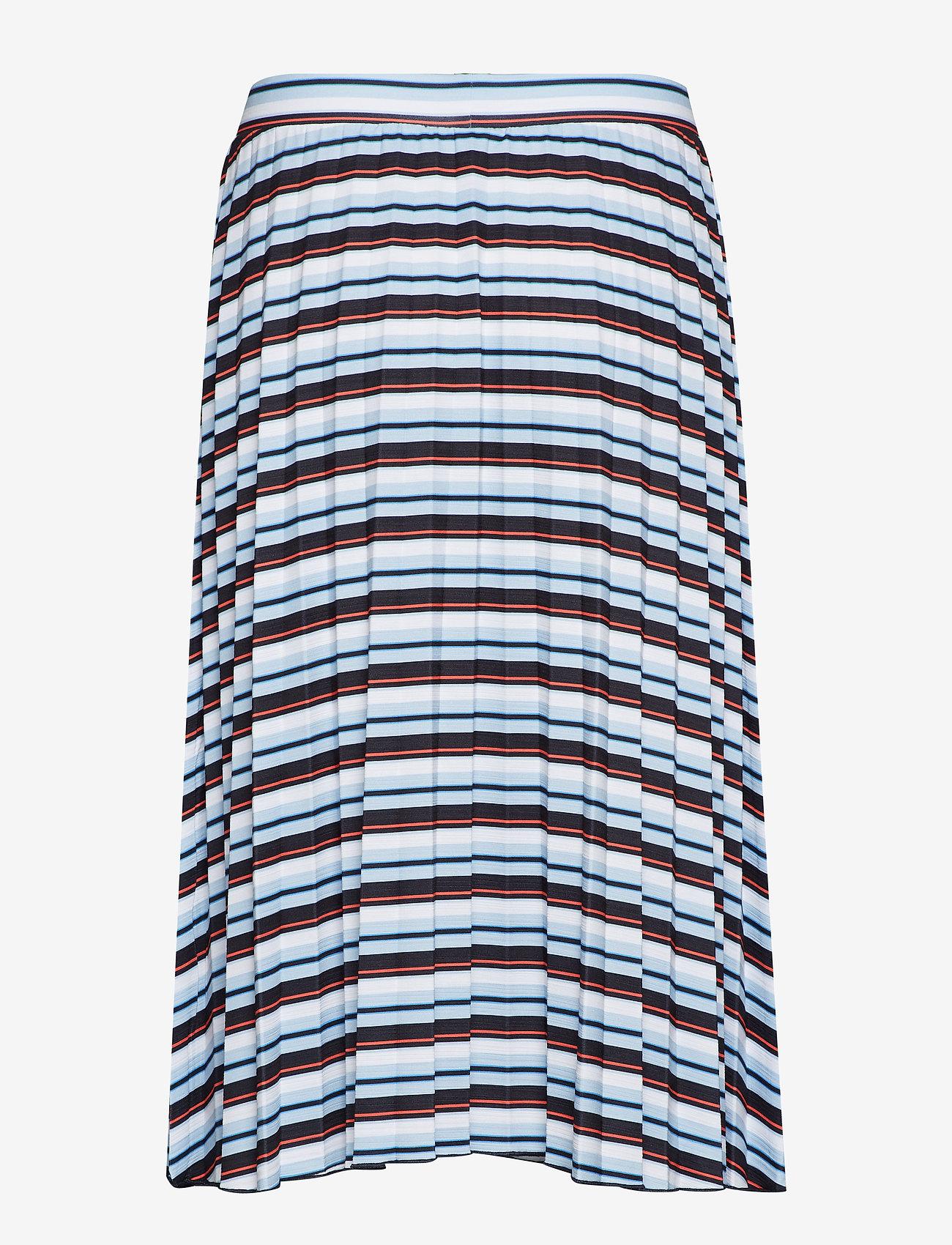 Gerry Weber Edition - SKIRT KNITWEAR - midi skirts - blue/red/orange hoops