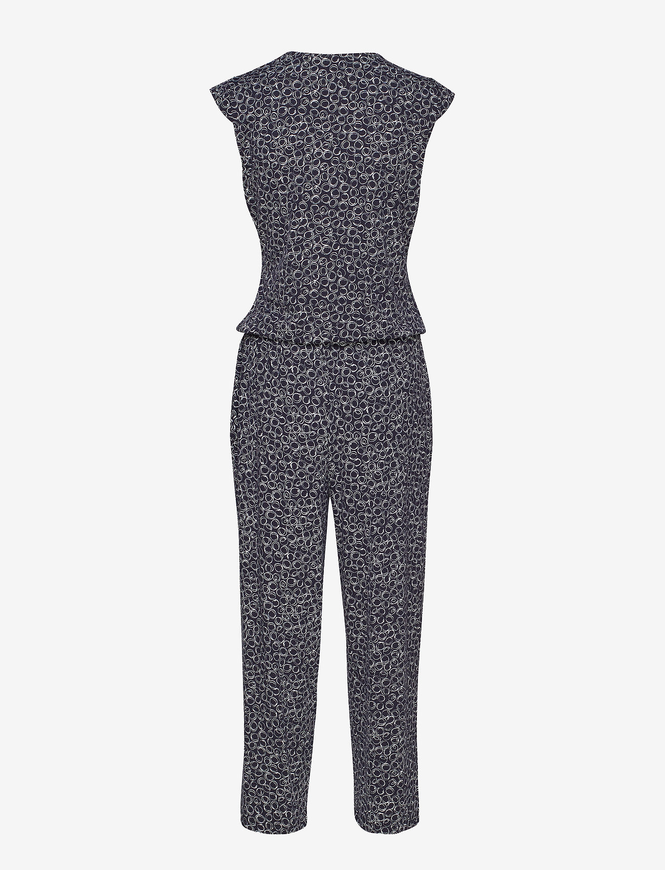 Gerry Weber Edition - TROUSERS KNITTED FAB - jumpsuits - blue/ecru/white print