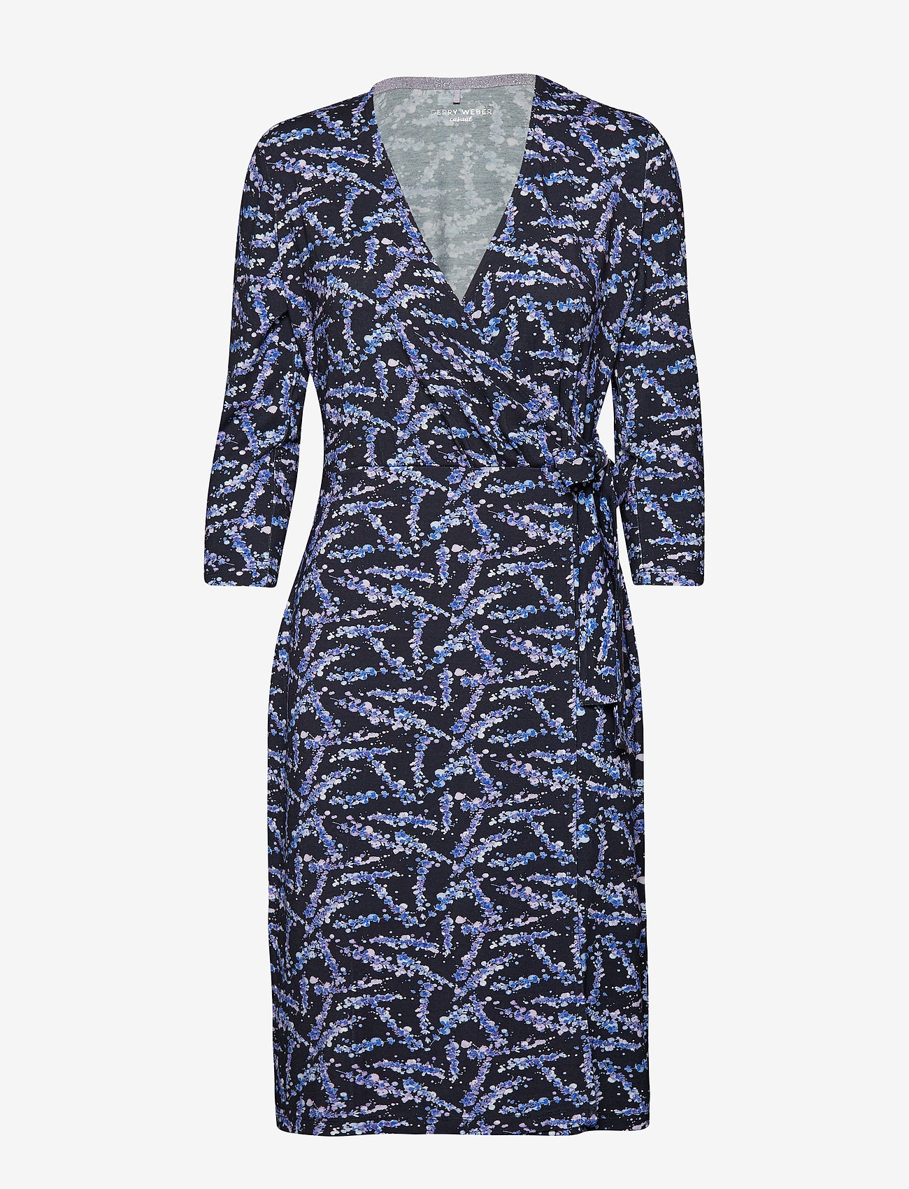 Gerry Weber Edition - DRESS KNITTED FABRIC - wrap dresses - blue/lilac/pink print