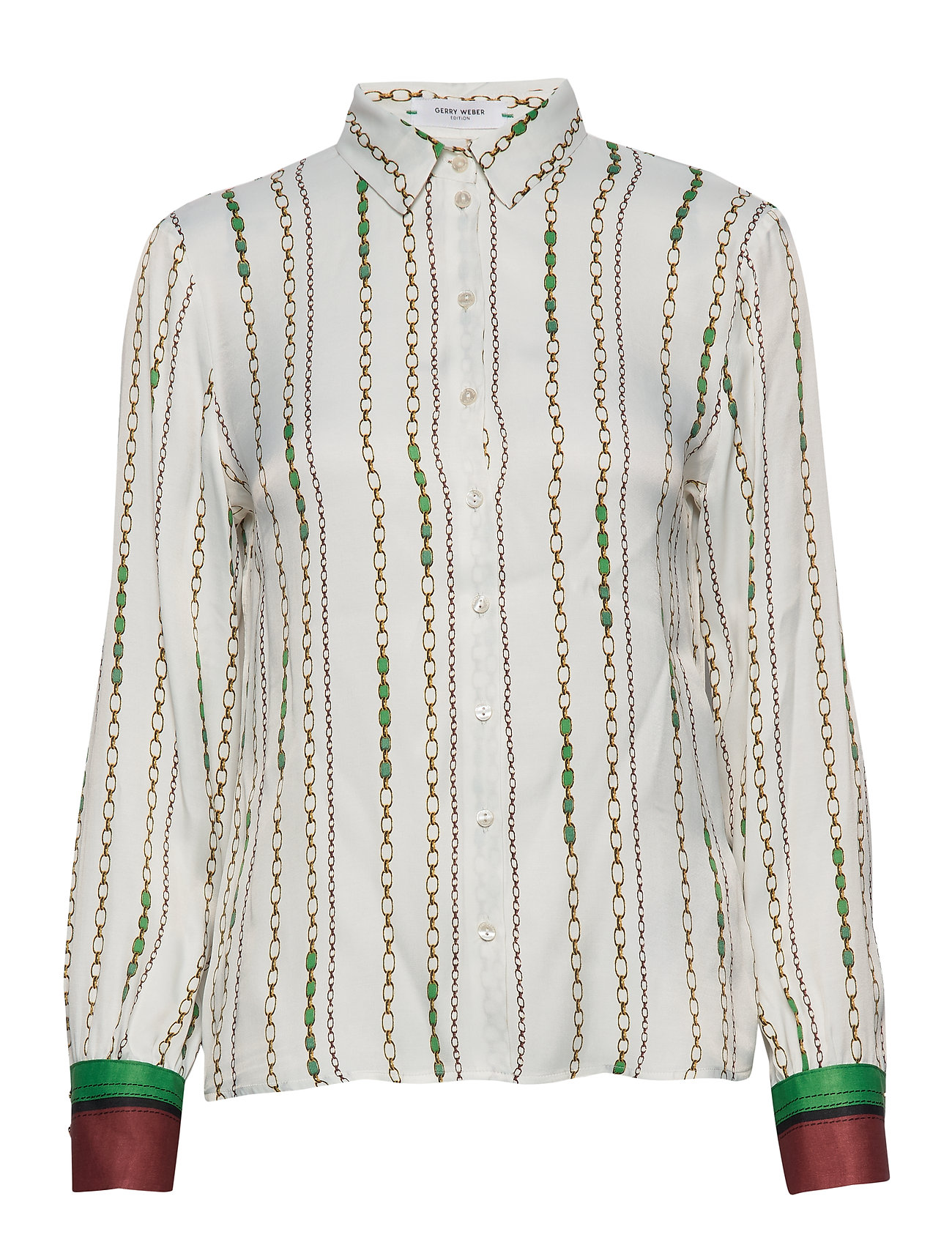 Gerry Weber Edition BLOUSE LONG-SLEEVE - OFFWHITE-BOTTLE GREEN