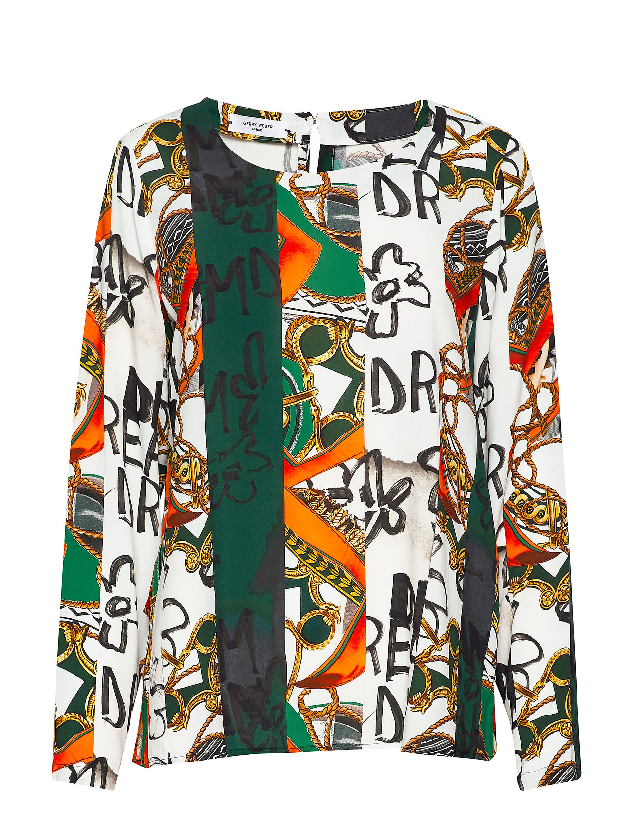 Gerry Weber Edition BLOUSE LONG-SLEEVE - GREEN/RED/ORANGE PRINT