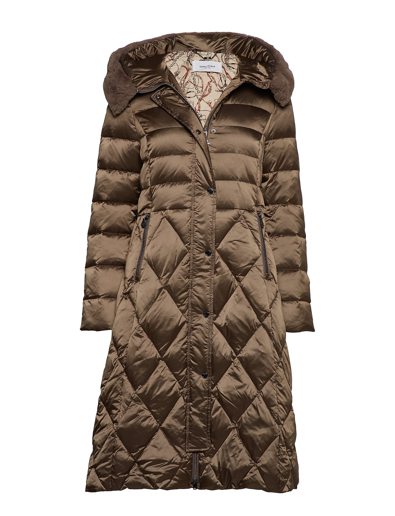 Gerry Weber Edition COAT NOT WOOL - DARK TAUPE