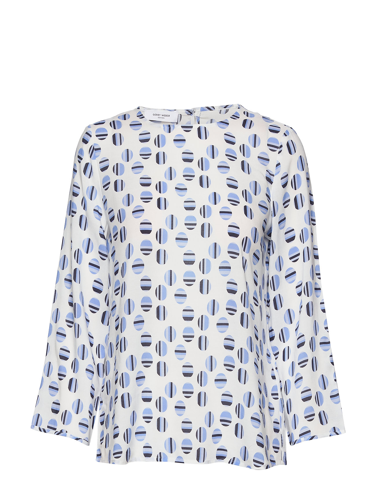 Gerry Weber Edition BLOUSE LONG-SLEEVE - OFFWHITE-BLUE-NAVY
