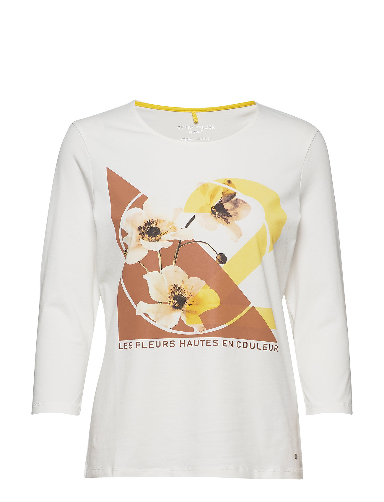 Gerry Weber Edition T-SHIRT 3/4-SLEEVE R - OFF-WHITE