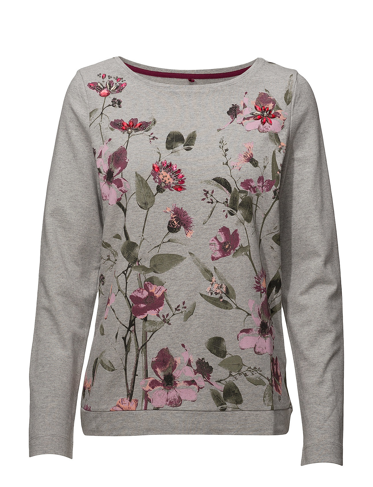 T-shirt Long-sleeve (Micro Chip Melange) (£42) - Gerry Weber Edition ... bff4113c7e8e