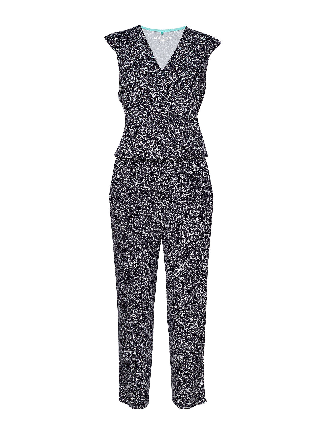 Gerry Weber Edition TROUSERS KNITTED FAB - BLUE/ECRU/WHITE PRINT
