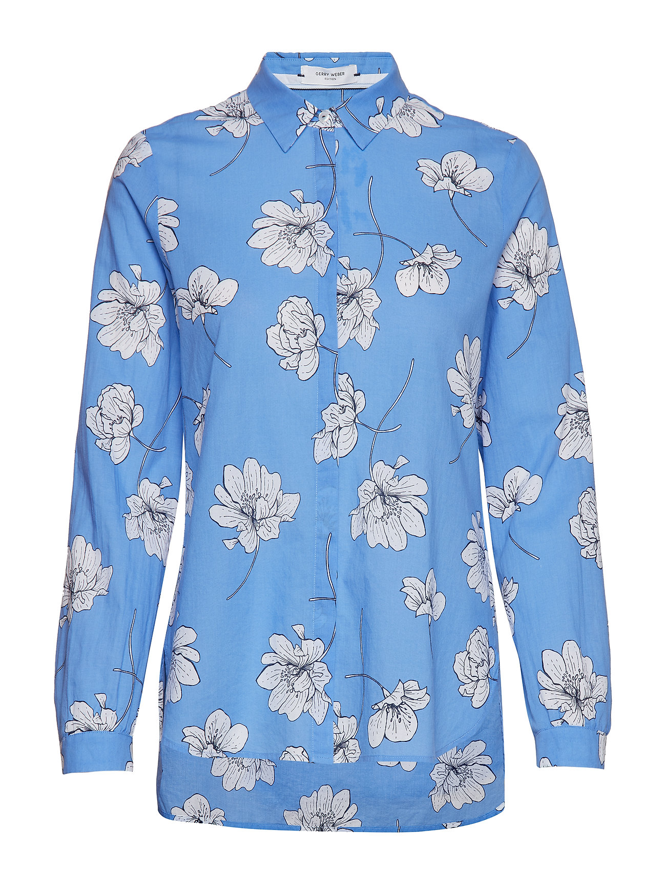 Gerry Weber Edition BLOUSE LONG-SLEEVE - MIDDLE BLUE-WHITE