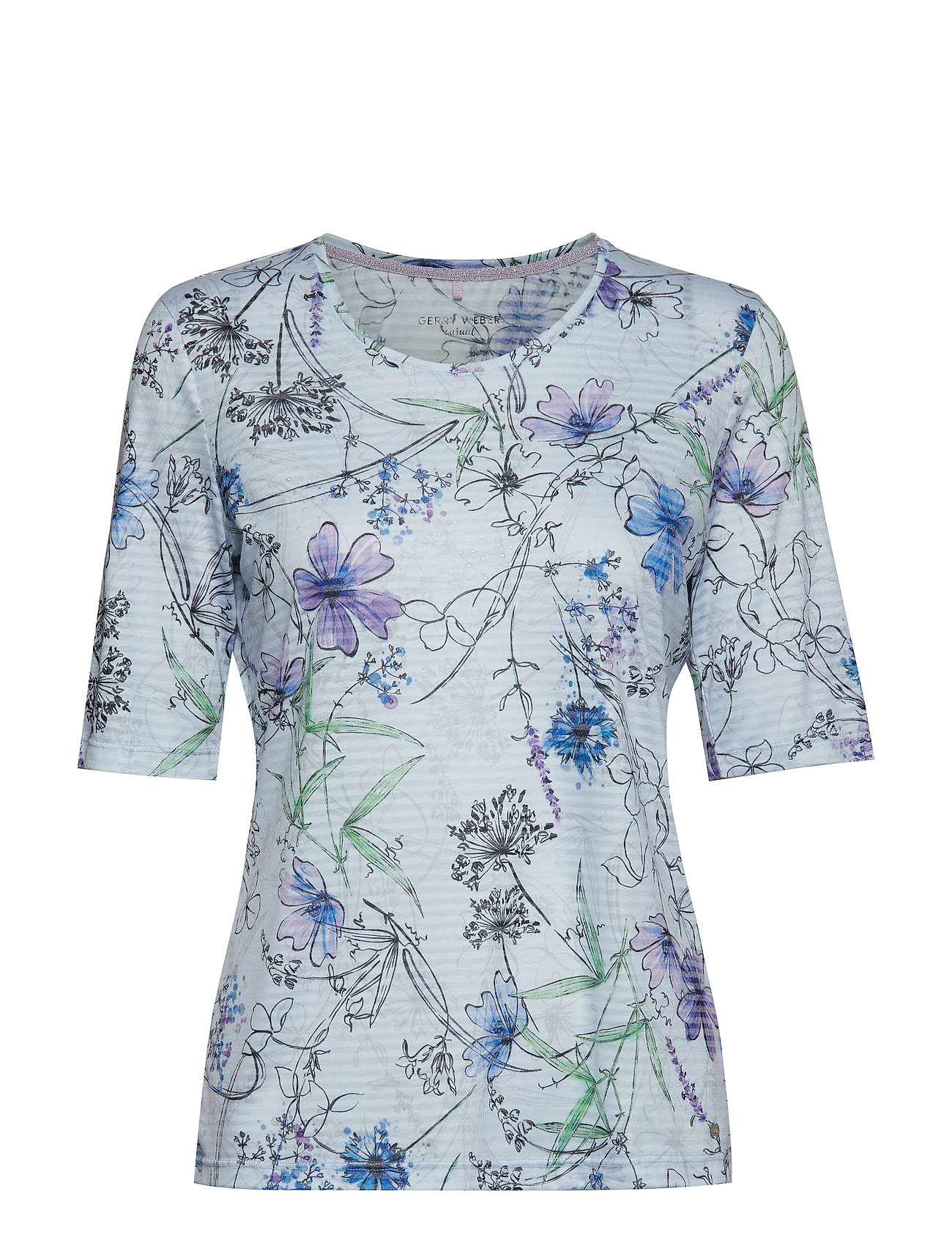 Gerry Weber Edition T-SHIRT 3/4-SLEEVE R - BLUE/LILAC/PINK PRINT