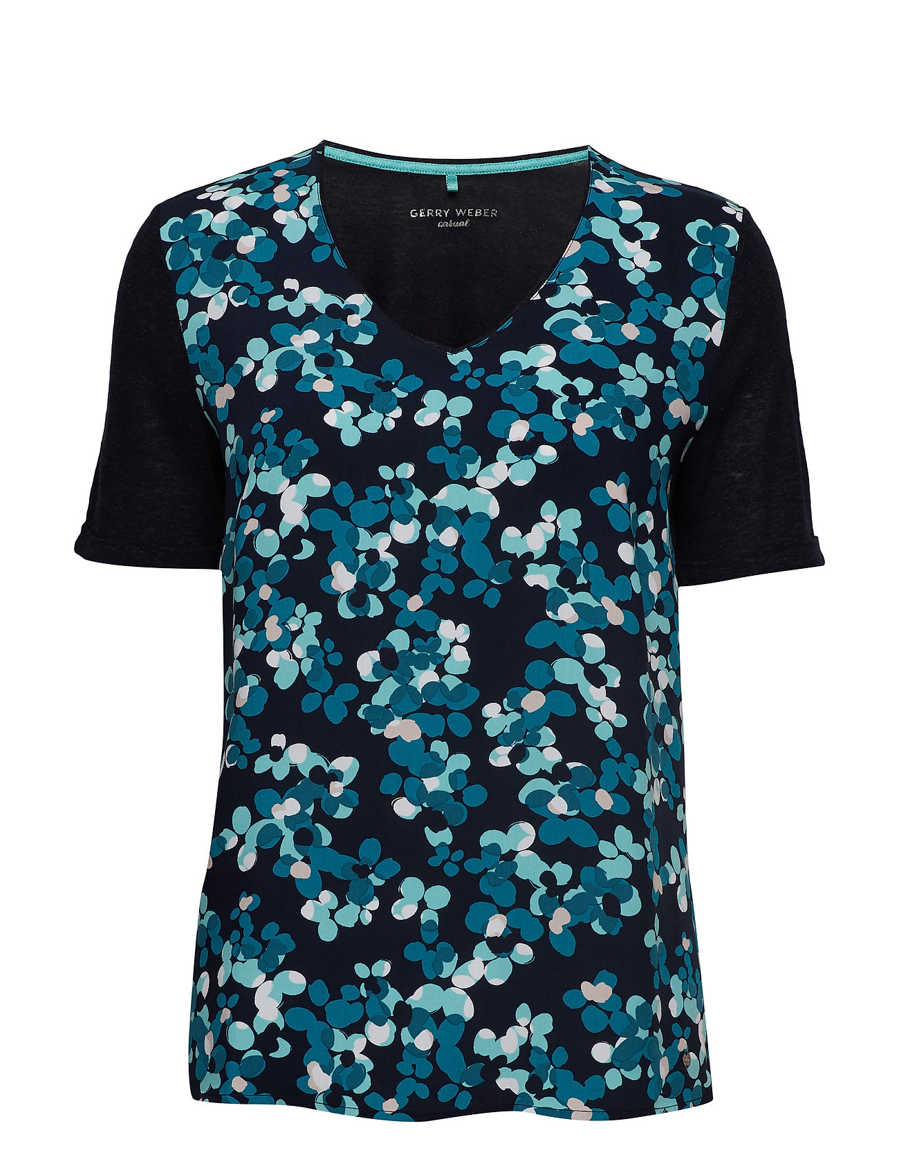 Gerry Weber Edition T-SHIRT SHORT-SLEEVE - BLUE/GREEN PRINT