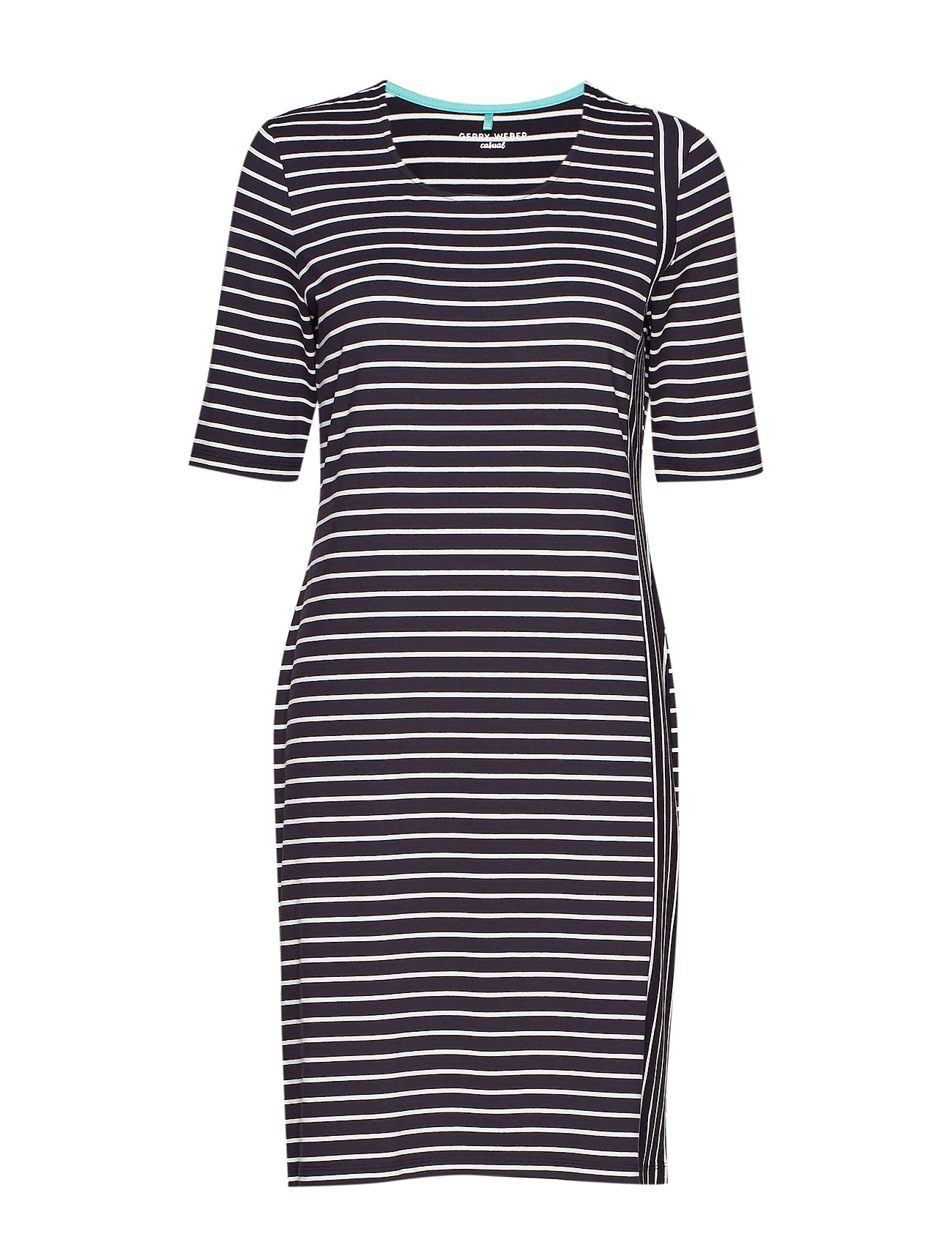Gerry Weber Edition DRESS KNITTED FABRIC - BLUE/ECRU/WHITE PATCH