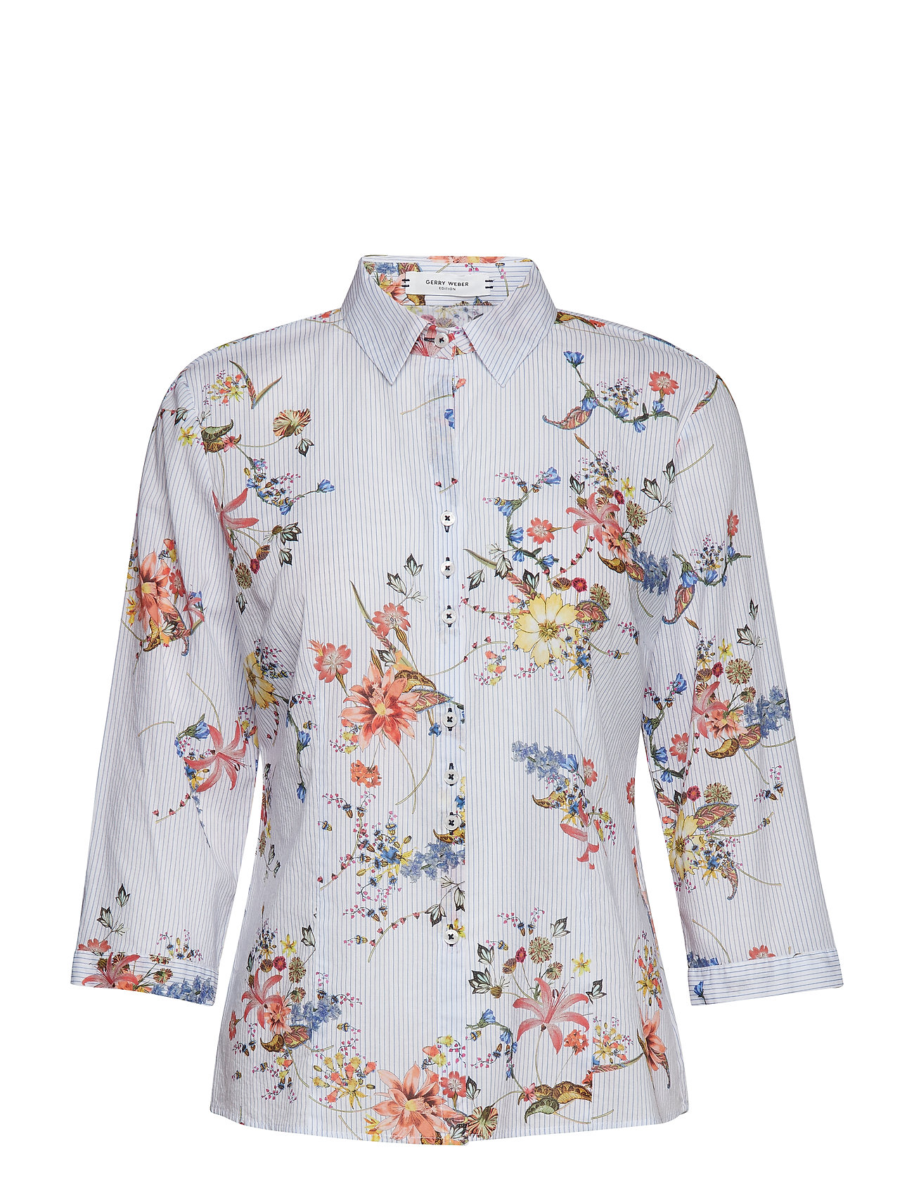 Gerry Weber Edition BLOUSE 3/4-SLEEVE - WHITE-BLUE-SUNSET RED