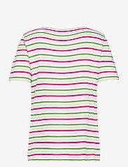 Gerry Weber Edition - T-SHIRT SHORT-SLEEVE - t-shirts - lilac/pink/green hoops - 1