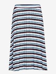 Gerry Weber Edition - SKIRT KNITWEAR - midi skirts - blue/red/orange hoops - 0