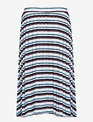 Gerry Weber Edition - SKIRT KNITWEAR - midi skirts - blue/red/orange hoops - 1