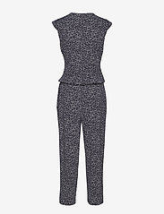Gerry Weber Edition - TROUSERS KNITTED FAB - jumpsuits - blue/ecru/white print - 1