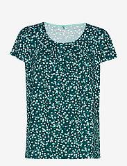 Gerry Weber Edition - T-SHIRT SHORT-SLEEVE - t-shirts - green/ecru/white print - 0