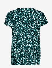 Gerry Weber Edition - T-SHIRT SHORT-SLEEVE - t-shirts - green/ecru/white print - 1