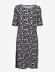 Gerry Weber Edition - DRESS KNITTED FABRIC - midi dresses - blue/ecru/white print - 0