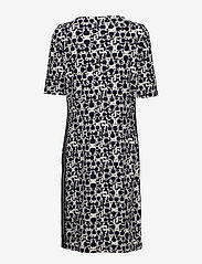 Gerry Weber Edition - DRESS KNITTED FABRIC - midi dresses - blue/ecru/white print - 1