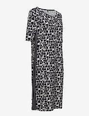 Gerry Weber Edition - DRESS KNITTED FABRIC - midi dresses - blue/ecru/white print - 2