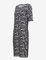 Gerry Weber Edition - DRESS KNITTED FABRIC - midi dresses - blue/ecru/white print - 3