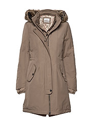 OUTDOOR JACKET NO WO - DARK TAUPE