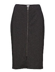 SKIRT KNITWEAR - BLACK FIGURED