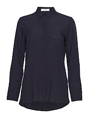 BLOUSE LONG-SLEEVE - PIGEON BLUE