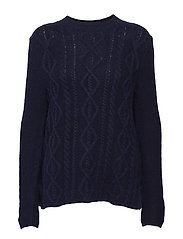 PULLOVER LONG-SLEEVE - BLUE FIGURED