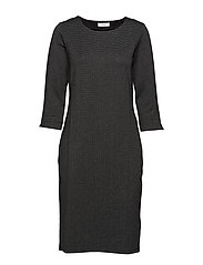 DRESS KNITTED FABRIC - BLACK FIGURED