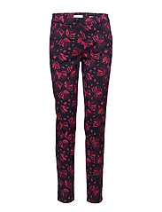 LEISURE TROUSERS LON - NAVY/BERRY