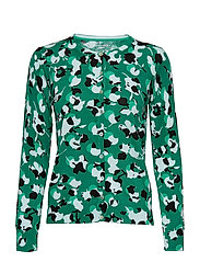 JACKET KNITWEAR - GREEN PRINT