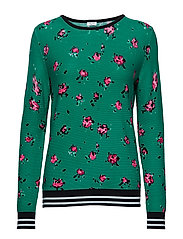 PULLOVER LONG-SLEEVE - GREEN/LILAC/PINK PRINT