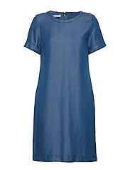 DRESS WOVEN FABRIC - BLUE DENIM