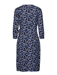 Gerry Weber Edition - DRESS KNITTED FABRIC - wrap dresses - blue/lilac/pink print - 1
