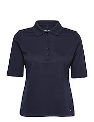 POLO SHIRT 3/4 SLEEV - DARK NAVY