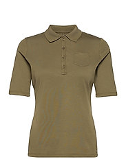 POLO SHIRT 3/4 SLEEV - LIGHT KHAKI