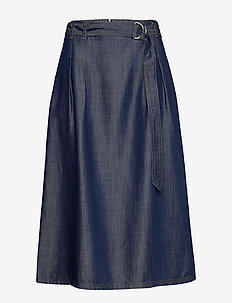 SKIRT SHORT WOVEN FA - jeansowe spódnice - vintage indigo