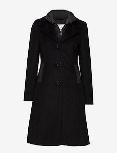COAT WOOL - BLACK