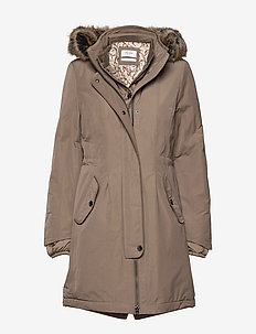 OUTDOOR JACKET NO WO - parka coats - dark taupe